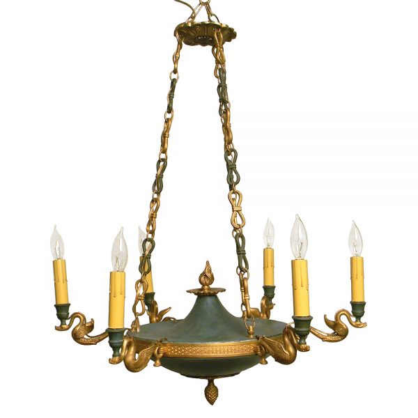 1900s Empire-Style 6-Arm Chandelier