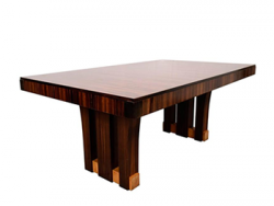 French Art Deco Macassar Wood Dining Table