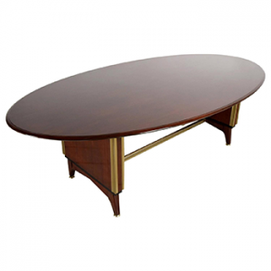 French Mid-Century Oval Dining/Conference Table