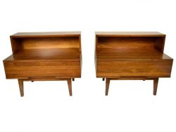 Pair of Mid-Century Modern Walnut End Tables