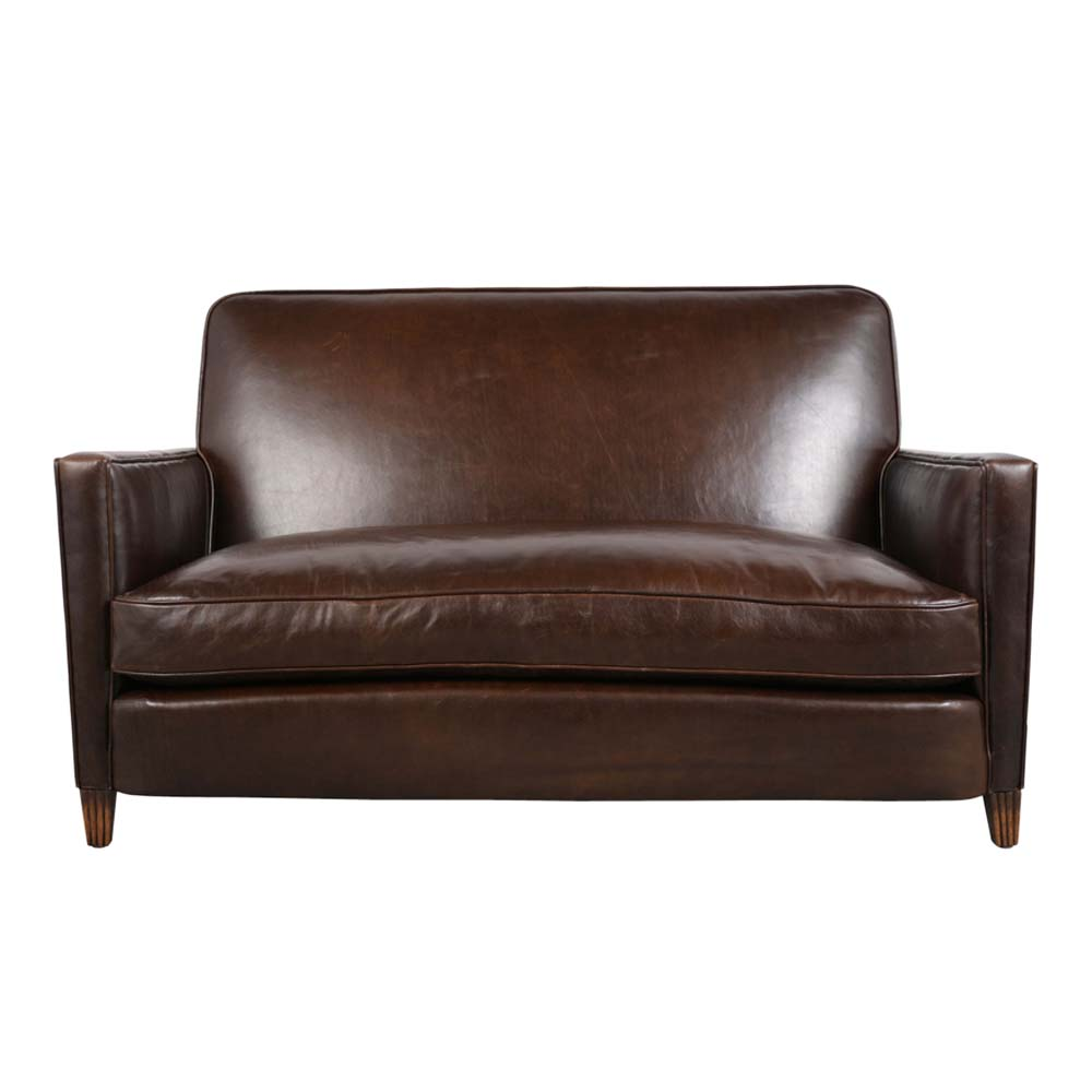 Awesome Circa 1930S French Art Deco Leather Sofa Love Seat Castle Dailytribune Chair Design For Home Dailytribuneorg
