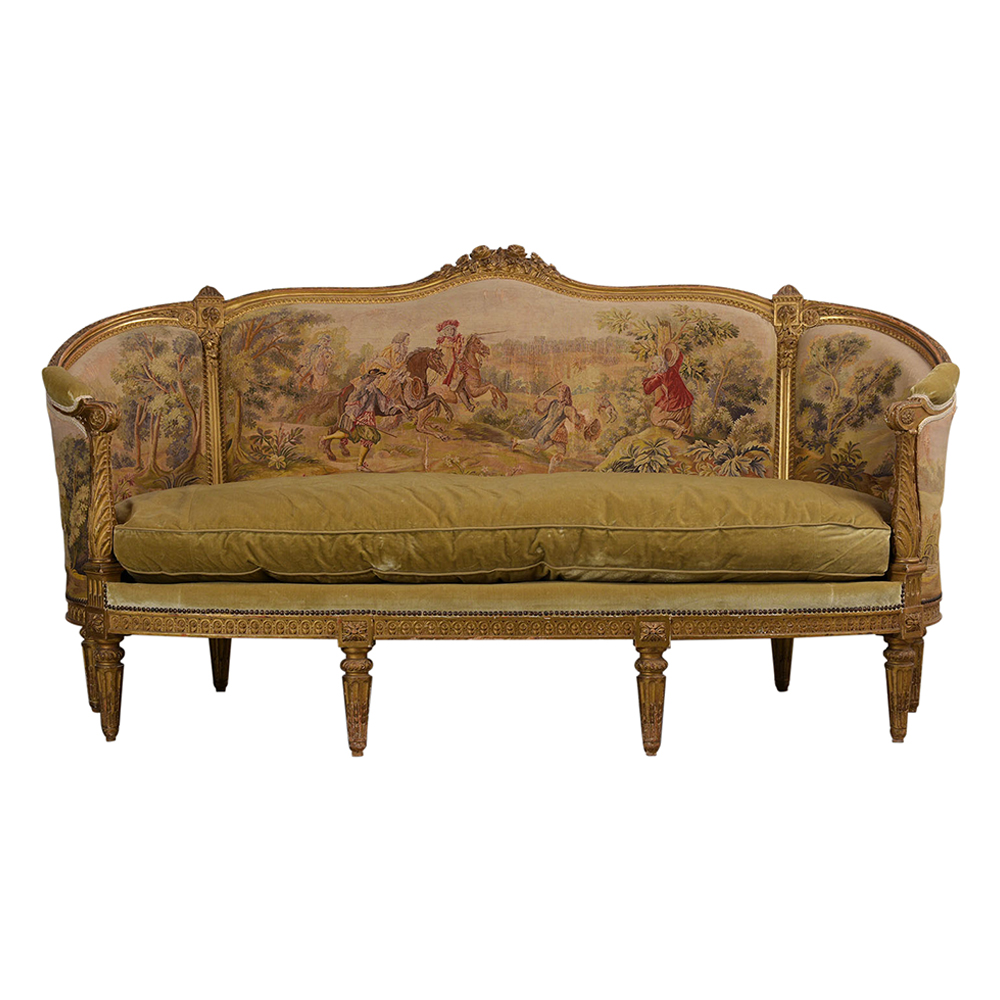 Groovy French 18Th Century Louis Xvi Style Abousson Canopy Sofa Machost Co Dining Chair Design Ideas Machostcouk